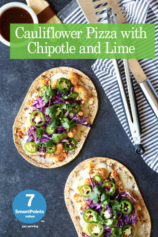 cauliflower pizza with chipotle and lime 7spv