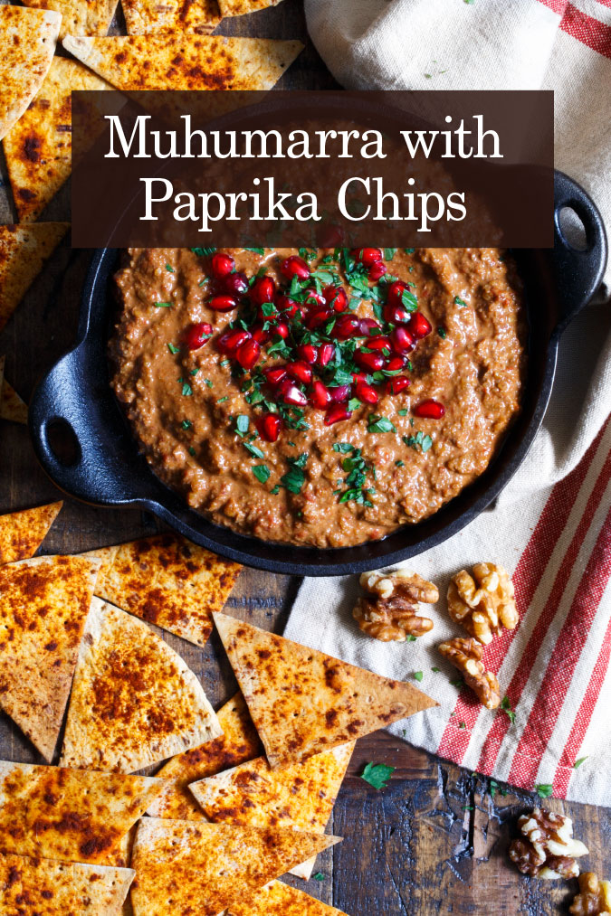 muhumarra with paprika chips