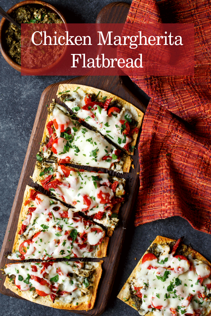 chicken margherita flatbread