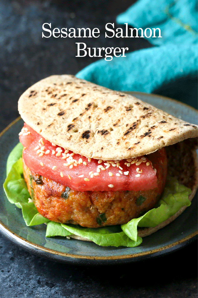 sesame salmon burger recipe