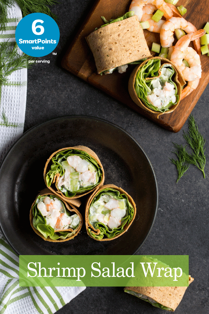 Shrimp Salad Wrap Flatoutbread