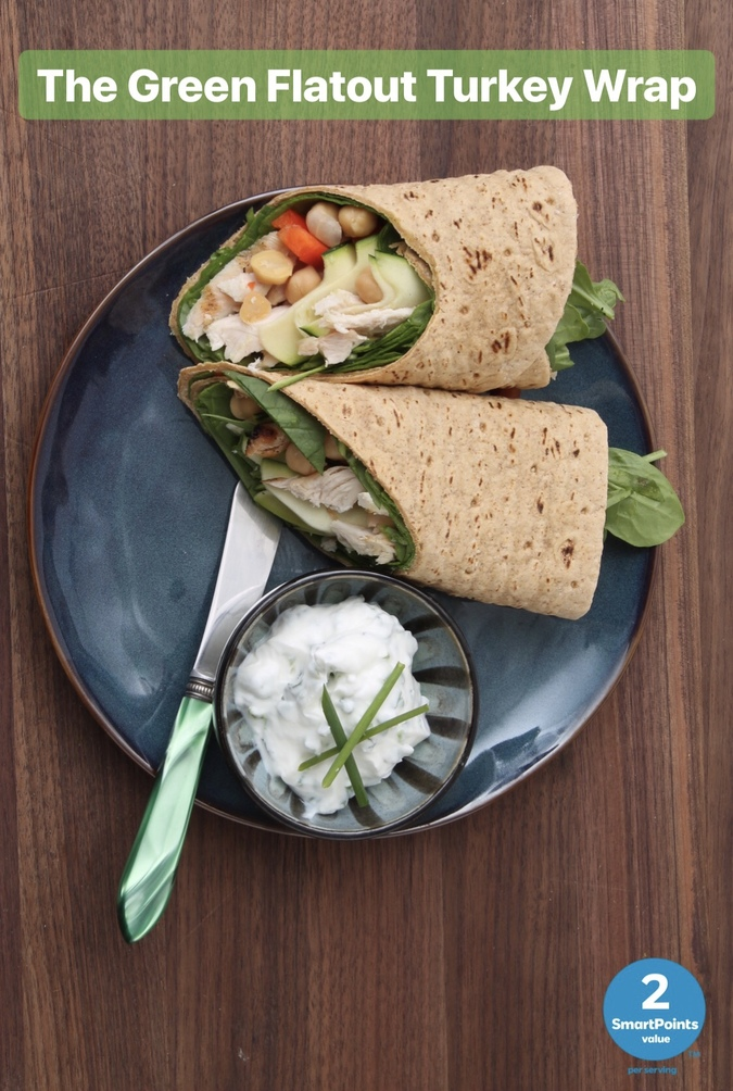 the green flatout turkey wrap